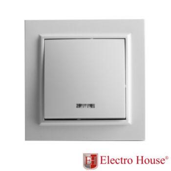 EH-2103  Выкл. 1-кл. с подсв. ENZO
